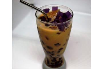 Earl Grey Milk Tea with Lavender Jelly