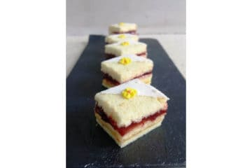 Lemon Strawberry Petit Fours
