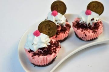 Choco-Pomegranate Ice Cream Cupcakes