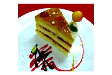 Yema Strawberry Cake with Salted Egg