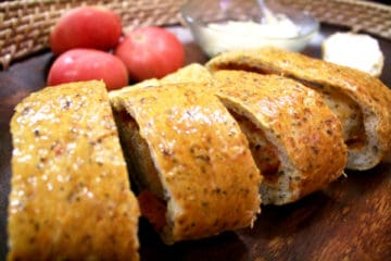 Chia and Herb Stromboli