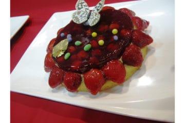 Dark Cherry Hazelnut Pie