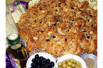 Spicy Focaccia with Olives
