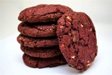 Triple Chocolate Red Velvet Oatmeal Cookie
