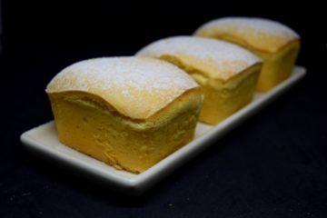 Eggless Custard Cake