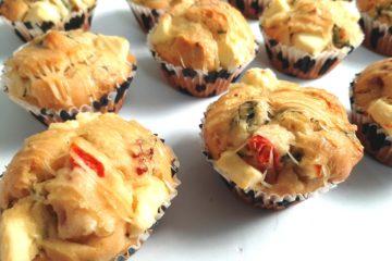 Basil and Tomato Savoury Muffin